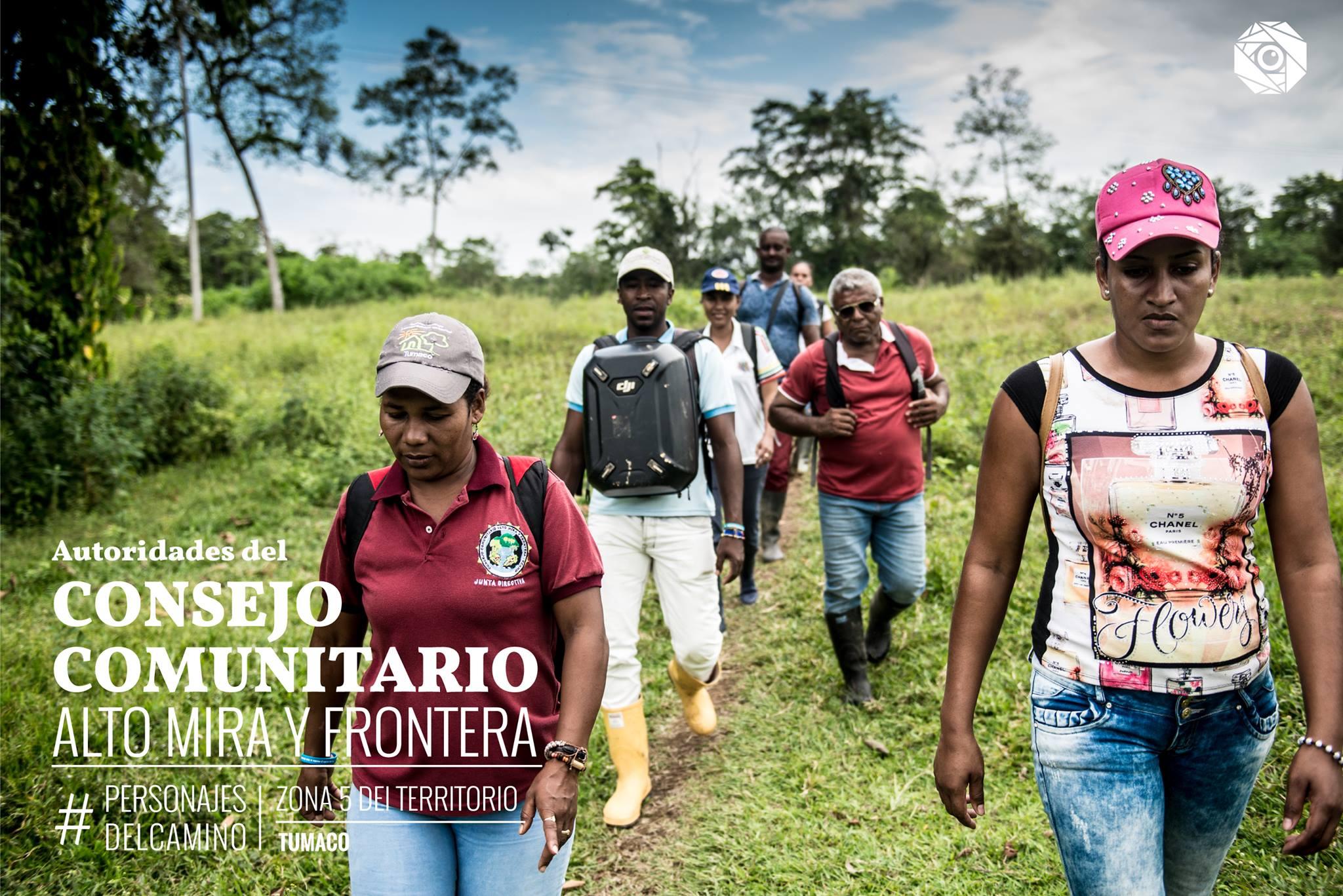 Líderes del Consejo Comunitario Alto Mira y Frontera