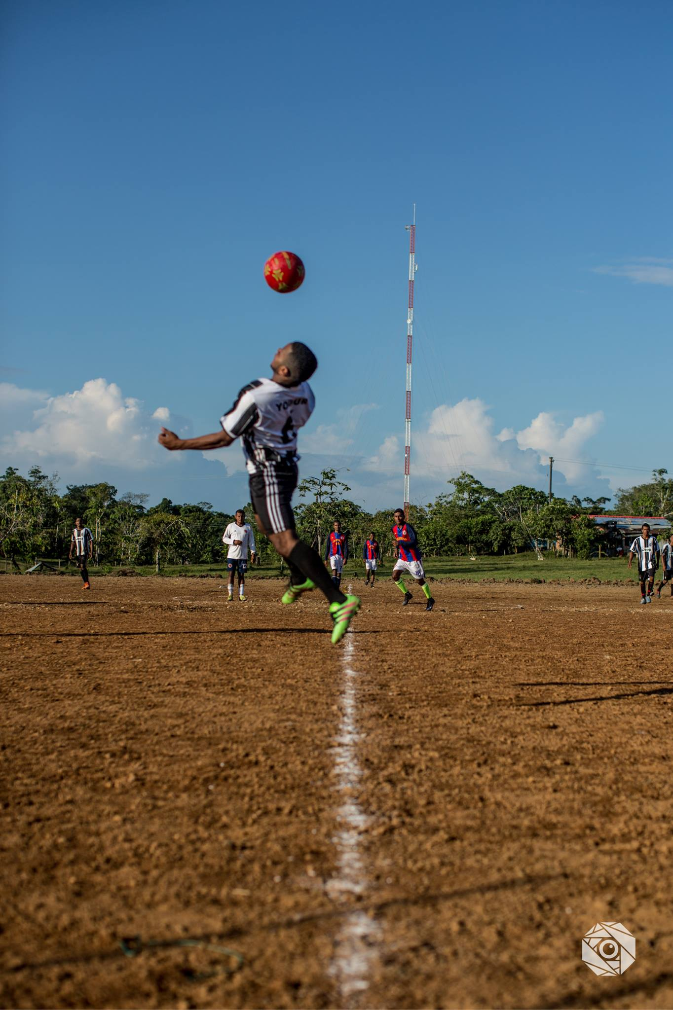 El partido de fútbol